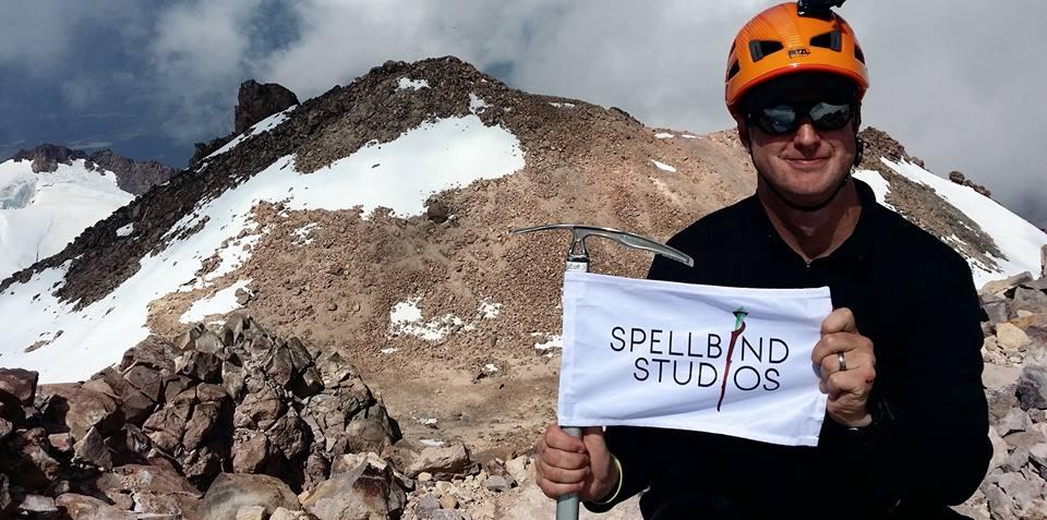 Geoff at the summit of Mt. Shasta