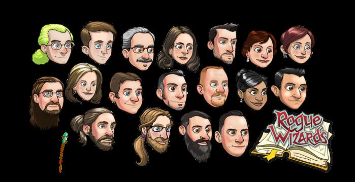 NPC heads based on Kickstarter backers
